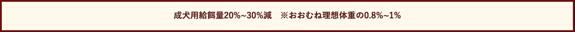 高齢犬ドッグフード参考給餌量表